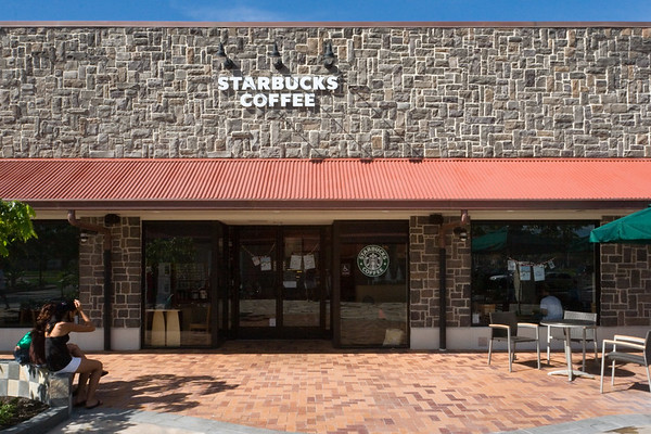 ...but not before we hear the siren's call!  Conveniently located nearby at the Queens' MarketPlace, we can stop at Starbucks before leaving Waikoloa each morning