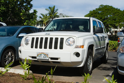 Yesterday's rain convinced us to upgrade our reserved rental convertible to this all-wheel drive SUV.  Today, we plan to drive to the northern tip of the island...