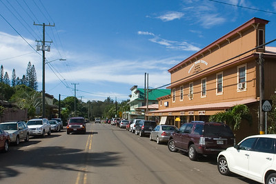 Upon recommendation from our hotel's concierge, we stop for lunch in the town of Hawi