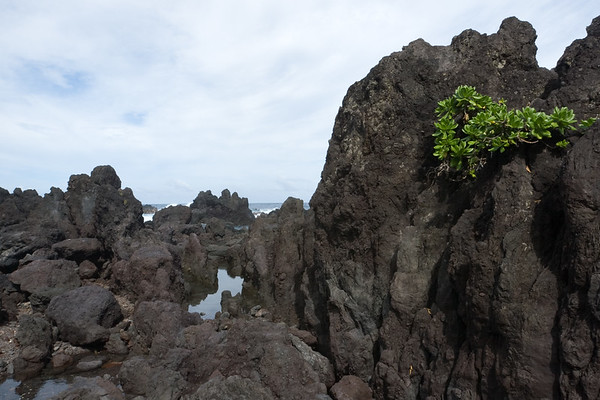 Valerie and I walk out on to the lava rock