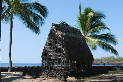 This is a half-sized reconstruction of the Hale o Keawe temple
