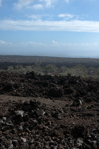 From this vista point, you can barely see Ka Lae (South Point) through the haze