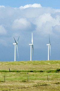 Wind power in the fields off of South Point Road