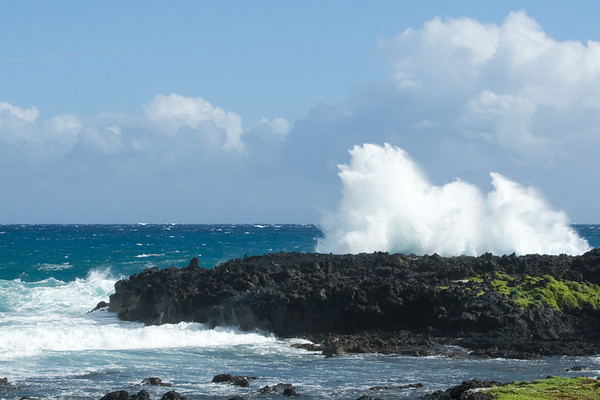 ...crashes against the rocks