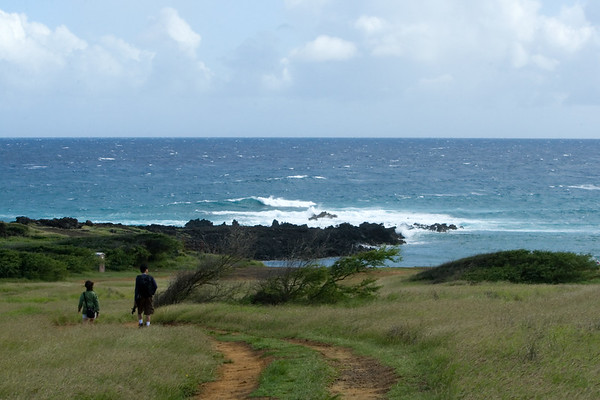 We have know way of knowing if those lava rocks mark the southern tip...