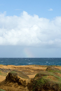 There's still no sign of green sand, but there is a rainbow