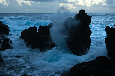 ...plus the rocks here dramatically interact with the sea