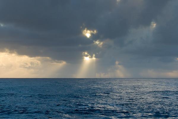 God rays...proof the sun has risen