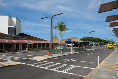 After I drop off our rental car, I join Valerie and Henri near the terminals of Kona International Airport at Keahole
