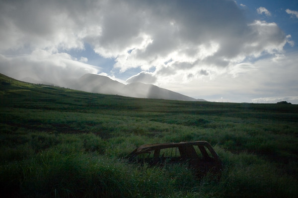 DAY 10 - Today I depart without Valerie who must stay behind to help open The Ritz-Carlton, Kapalua.  As I drive south of Lahaina, I pull off the road to take farewell photographs of West Maui