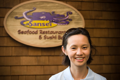After Valerie finishes her shift at the hotel, we head up to Sansei for dinner