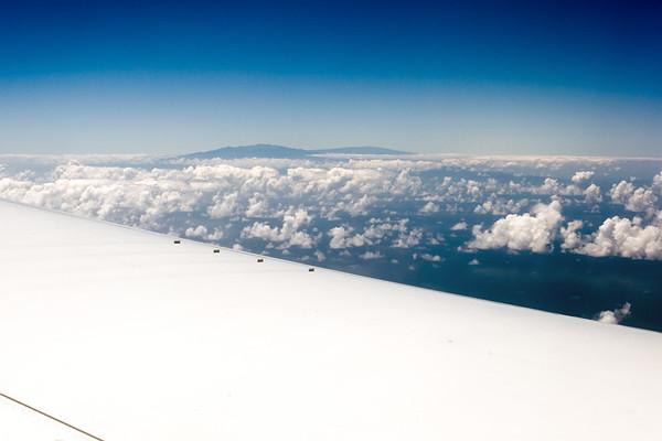 The tall peaks of Mauna Kea and Mauna Loa on the Big Island of Hawaii