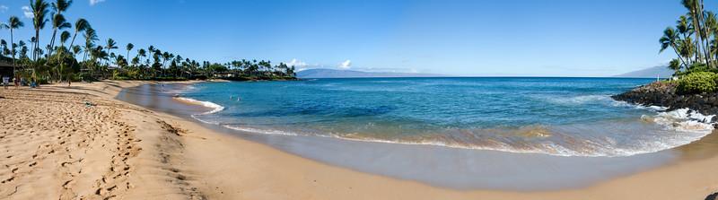 Napili Bay panorama (hugin-assisted stitch)