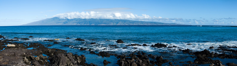 Molokai from Napili Bay panorama (hugin auto-stitched)