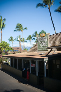 I walk by the Napili General Store...the Honolua Store is much nicer