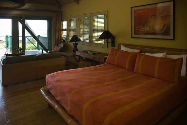 Bed looks comfy...and still has a view of the ocean