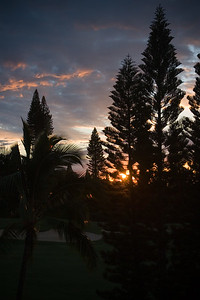 DAY 6 - Sunset from our room's lanai
