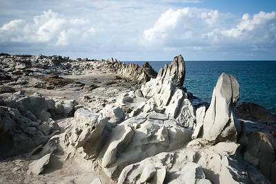 """I see why this is called """"Dragon's Teeth"""".   Makalua-puna Point was created from one of the last lava flows on Maui, but the unique formations get their shape and color thanks to hundreds of years of pounding from wind and sea."""