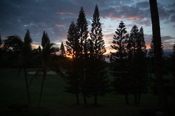 Our resort view room may not let us see the ocean, but at least we get to see the sun go down