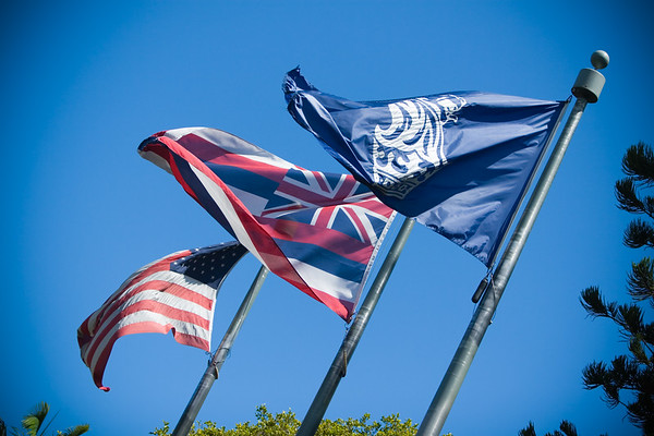 Flags of the United States, Hawaii, and The Ritz-Carlton