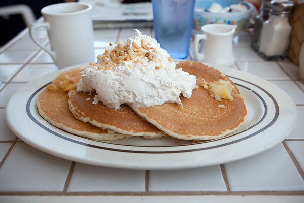 Did I mention how good Gazebo's pineapple-mac nut-banana pancakes are? They even taste good cold the next day, so, even if you don't think you can finish it, order the full stack!