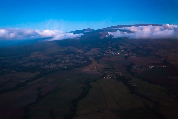 I am a little disoriented...this is definitely Haleakala, but I am not used to having it on the left side of the aircraft