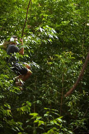 I channel my inner Tarzan (photo by Valerie Iwasaki)