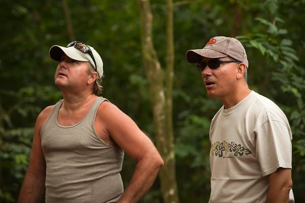 CJ and Ramon marvel at the Banyan Tree