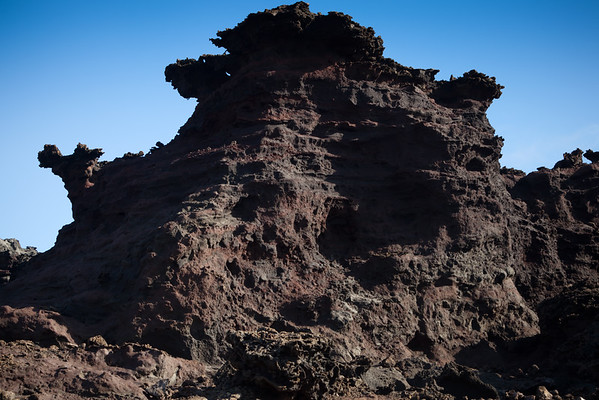 It is really interesting to see how this lava rock has eroded