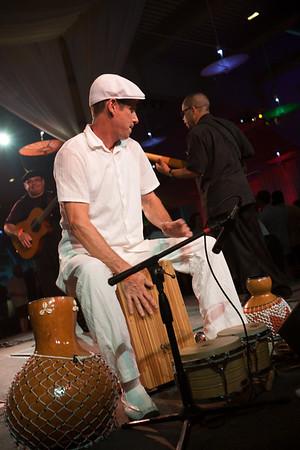 Live performances keep the atmosphere festive