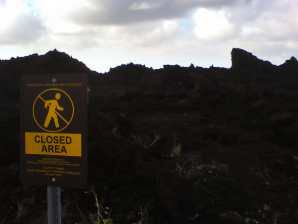I almost drove this far south during my visit 2007.  On that trip, I parked at a lot on the north edge of this lava flow.  I don't know if ths area was closed then, but it certainly is now
