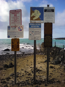 So many warning signs, but no sign of dolphins