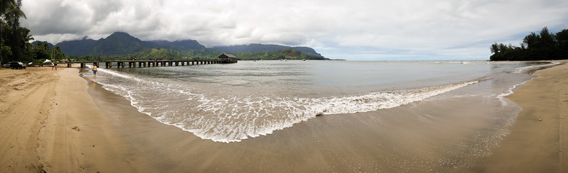 I find my way to the Hanalei Pier...one of the locations Valerie wants to see during our trip