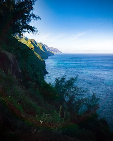 Our hike will take us southwest along the Na Pali Coast