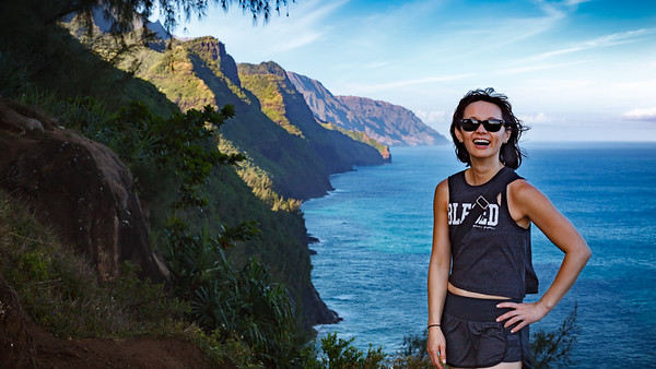 Valerie loves the view of the Na Pali Coast