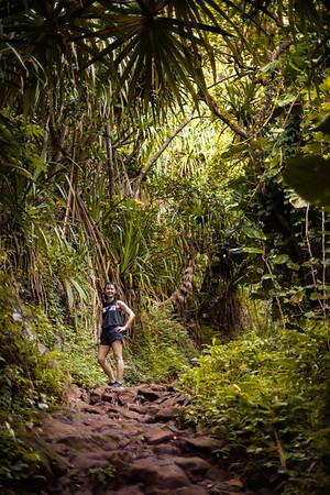 Valerie on the Kalalau Trail