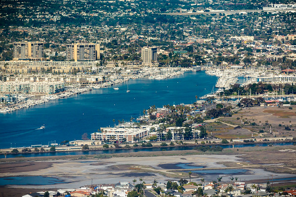 I was a bit too slow to get a shot of where we lived, but I do catch one of The Ritz-Carlton, Marina del Rey