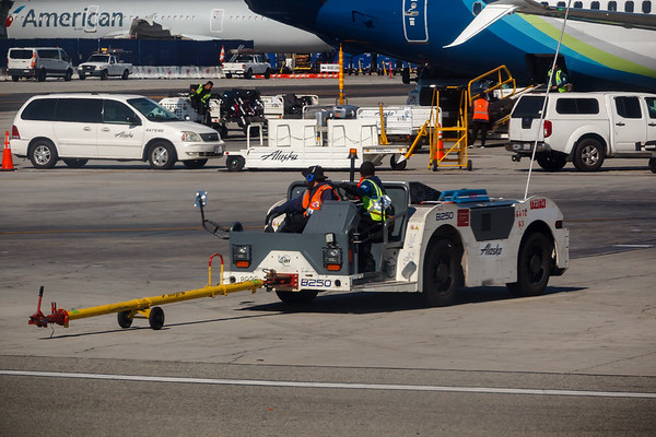 Released from the pushback tug