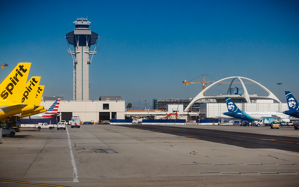 LAX Control Tower and The Theme Building
