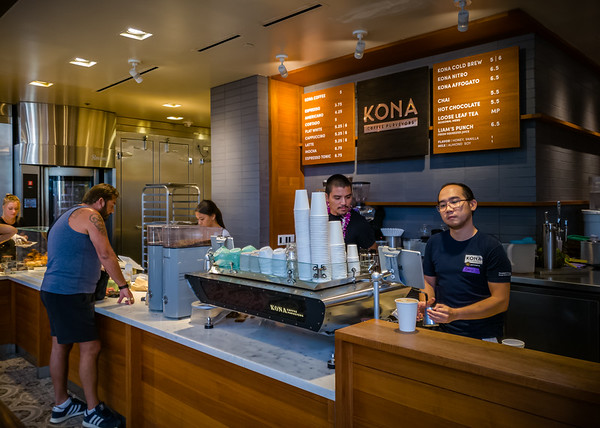 The prices are not much different than Starbucks, but I suspect that the Kona coffee served here is more authentic and significantly better tasting