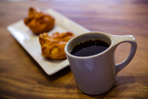 When the coffee is good, I have no problem drinking it black...and it IS good