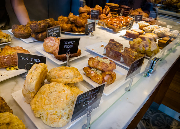 Mmmmm...the pastries look really good