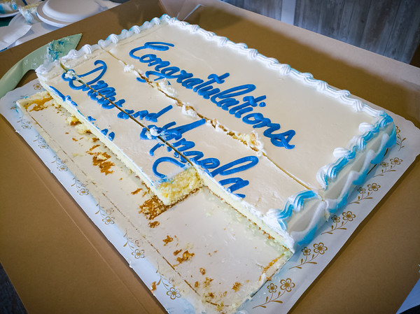 Somehow I missed getting a shot of the cake before it was cut into