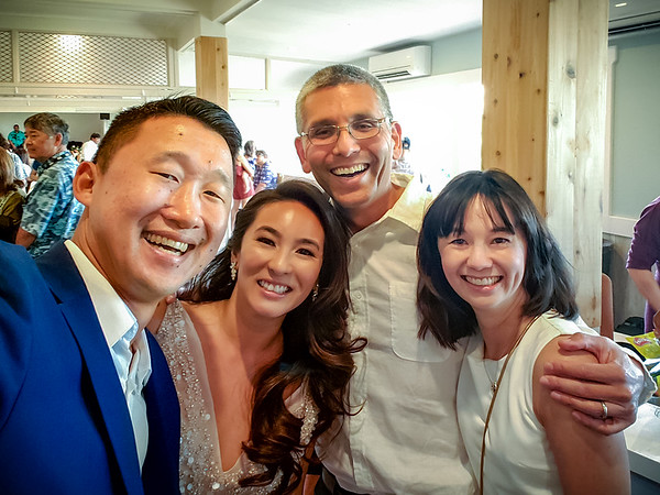 I finally make it into one of Drew's famous selfies!  Celebrating the recent union of Drew and Angela is why we flew to Oahu.