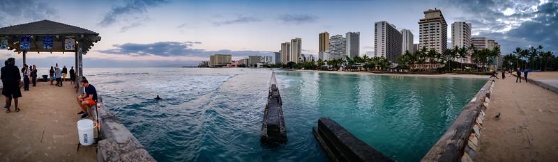 Waikiki Wall Smartphone Panorama