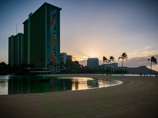 This is my first time seeing Hilton Hawaiian Village Waikiki's Lagoon