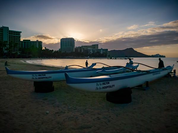 Hilton's Outrigger Canoes on Kahanamoku Beach