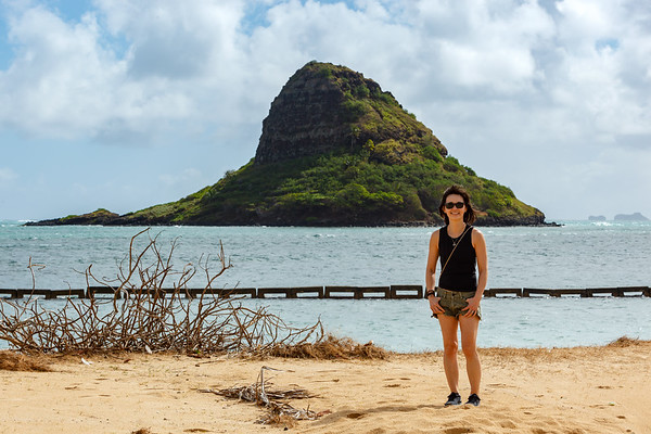 DAY 4 (continued) - After picking up Valerie from The Laylow, I drive us to the North Shore.  We stop at Kualoa Regional Park to stretch our legs and get some photos