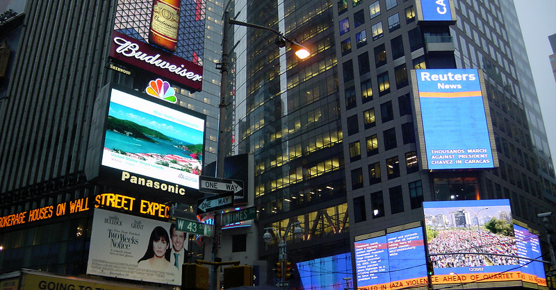 Times Sq and 43rd - signs (composite)