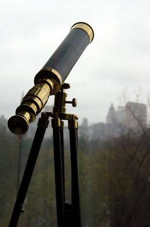 Ritz (view) - brass telescope
